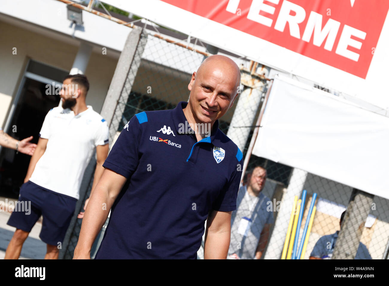 Darfo Boario, Italia. 21st July, 2019. Foto Stefano Nicoli/LaPresse21 luglio 2019 Darfo Boario (Bs), Italia sport calcio Amichevole Brescia Darfo Pre Campionato di calcio Serie A 2019/2020 - Nella foto: Eugenio Corini Photo Stefano Nicoli/LaPresse July 20, 2019 Darfo Boario (Bs), Italy sport soccer Friendly match Brescia Darfo League A TIM 2019/2020 - In the pic:Eugenio Corini Credit: LaPresse/Alamy Live News - Stock Image