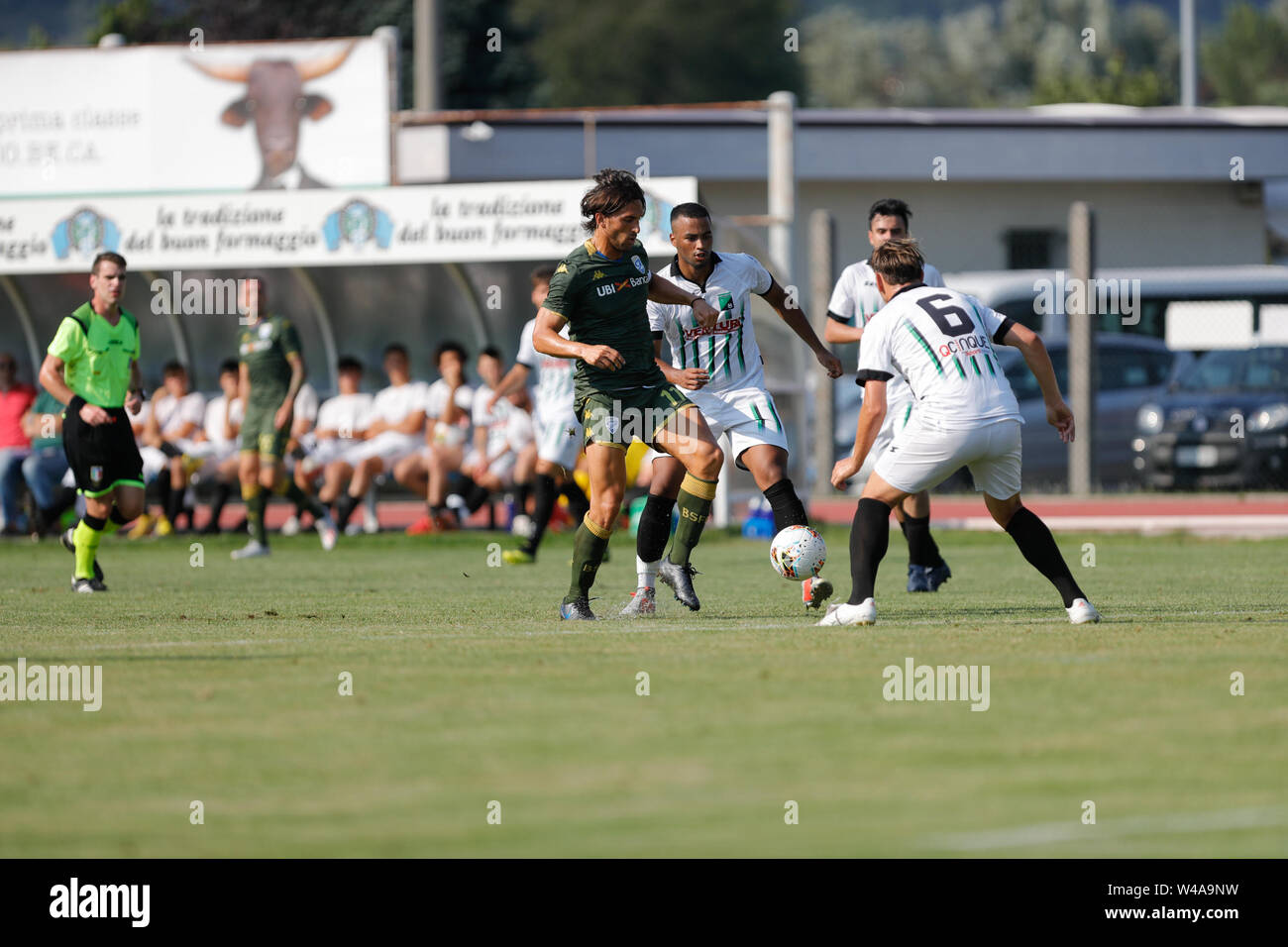 Darfo Boario, Italia. 21st July, 2019. Foto Stefano Nicoli/LaPresse21 luglio 2019 Darfo Boario (Bs), Italia sport calcio Amichevole Brescia Darfo Pre Campionato di calcio Serie A 2019/2020 - Nella foto: Ernesto Torregrossa Photo Stefano Nicoli/LaPresse July 20, 2019 Darfo Boario (Bs), Italy sport soccer Friendly match Brescia Darfo League A TIM 2019/2020 - In the pic:Ernesto Torregrossa Credit: LaPresse/Alamy Live News - Stock Image