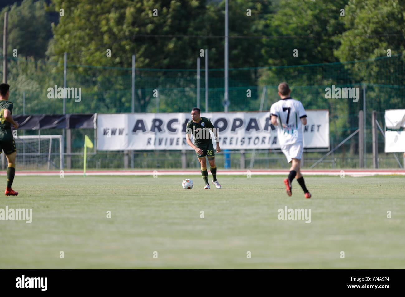 Darfo Boario, Italia. 21st July, 2019. Foto Stefano Nicoli/LaPresse21 luglio 2019 Darfo Boario (Bs), Italia sport calcio Amichevole Brescia Darfo Pre Campionato di calcio Serie A 2019/2020 - Nella foto: Bruno Martella Photo Stefano Nicoli/LaPresse July 20, 2019 Darfo Boario (Bs), Italy sport soccer Friendly match Brescia Darfo League A TIM 2019/2020 - In the pic:Bruno Martella Credit: LaPresse/Alamy Live News - Stock Image