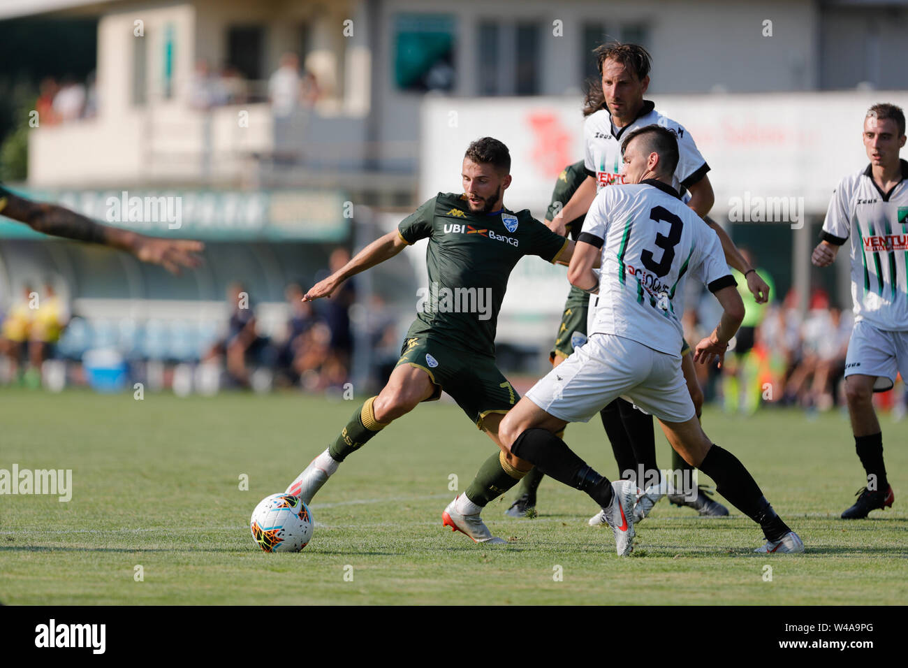 Darfo Boario, Italia. 21st July, 2019. Foto Stefano Nicoli/LaPresse21 luglio 2019 Darfo Boario (Bs), Italia sport calcio Amichevole Brescia Darfo Pre Campionato di calcio Serie A 2019/2020 - Nella foto: Nicholas Spalek Photo Stefano Nicoli/LaPresse July 20, 2019 Darfo Boario (Bs), Italy sport soccer Friendly match Brescia Darfo League A TIM 2019/2020 - In the pic: Nicholas Spalek Credit: LaPresse/Alamy Live News - Stock Image