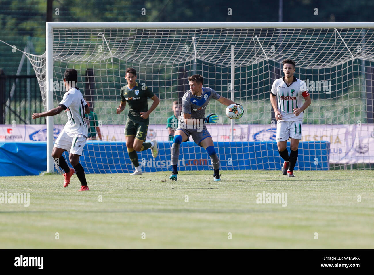 Darfo Boario, Italia. 21st July, 2019. Foto Stefano Nicoli/LaPresse21 luglio 2019 Darfo Boario (Bs), Italia sport calcio Amichevole Brescia Darfo Pre Campionato di calcio Serie A 2019/2020 - Nella foto: Jesse Jorone Photo Stefano Nicoli/LaPresse July 20, 2019 Darfo Boario (Bs), Italy sport soccer Friendly match Brescia Darfo League A TIM 2019/2020 - In the pic:Jesse Jorone Credit: LaPresse/Alamy Live News - Stock Image