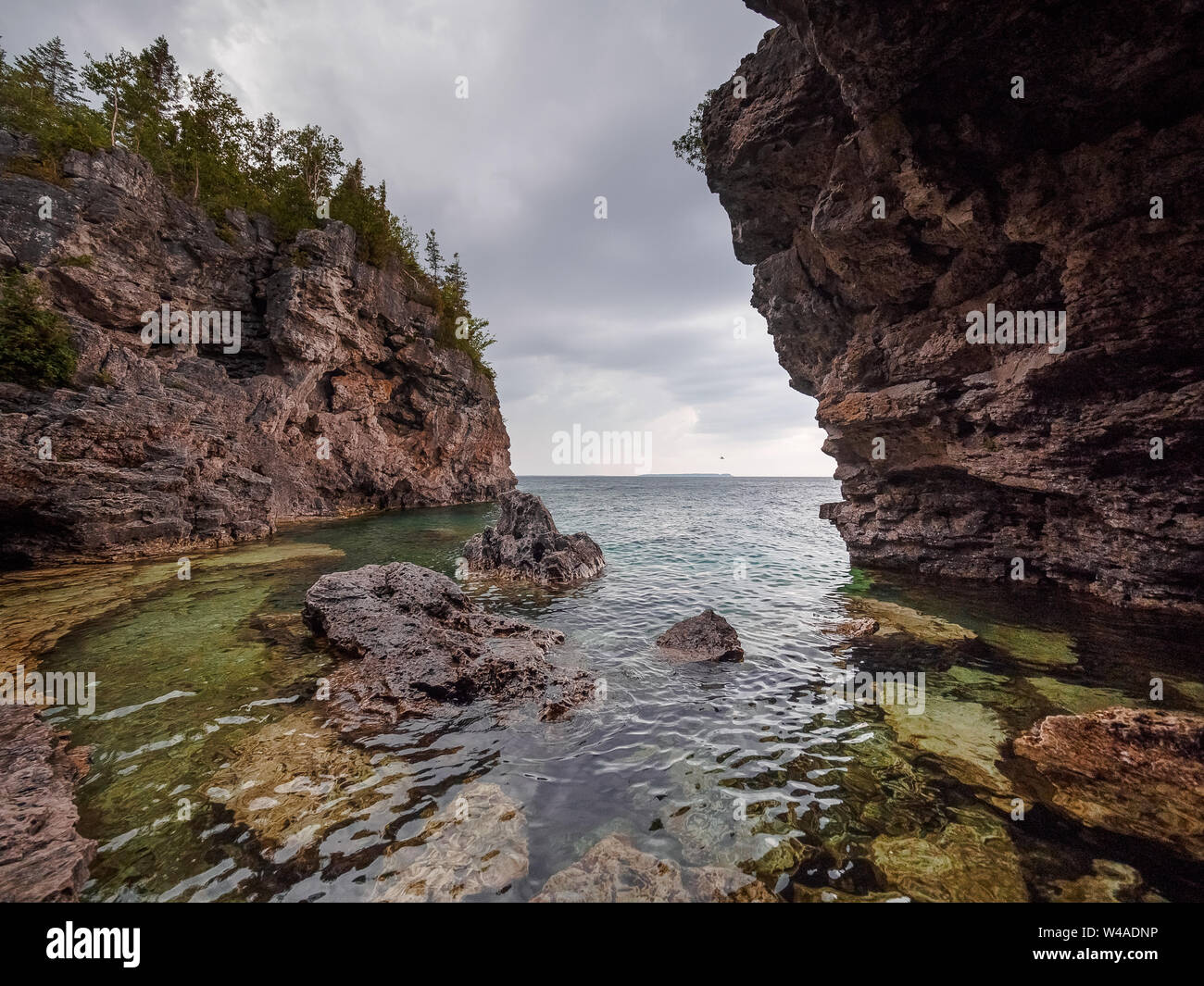 Bruce Peninsula National Park Grotto Stock Photos & Bruce