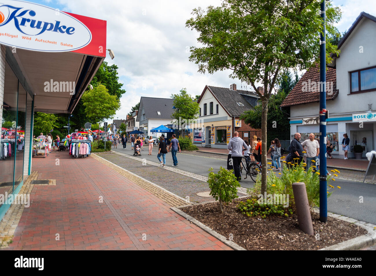 Hude, Germany, July, 21 2019: the day after the italian night in the municipality of hude lower  saxony Stock Photo