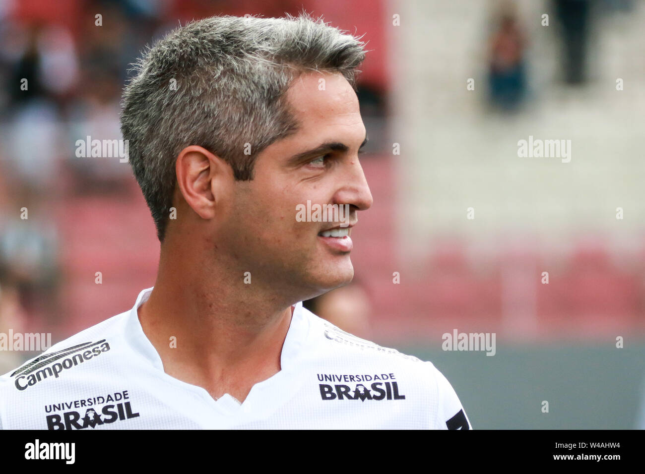 Belo Horizonte, Brazil. 21st July, 2019. MG vs Fortaleza, match valid for the 2019 Brazilian Championship, held at Arena Independência, Belo Horizonte, MG. Credit: Dudu Macedo/FotoArena/Alamy Live News - Stock Image