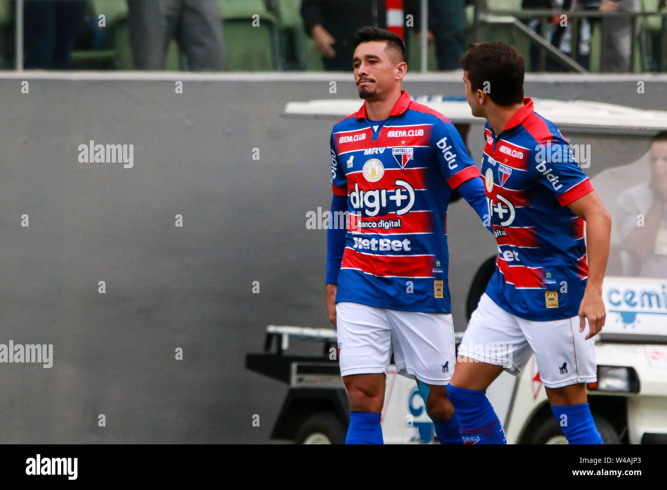Belo Horizonte, Brazil. 21st July, 2019. MG vs Fortaleza, a match valid for the 2019zilian Championship, held at Arena Independêendência, Belo Horizonte, MG. Credit: Dudu Macedo/FotoArena/Alamy Live News - Stock Image