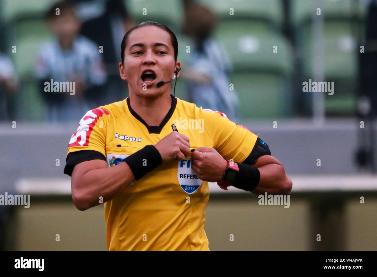 Belo Horizonte, Brazil. 21st July, 2019. MG vs Fortaleza, match valid for Brazilian Championship 2019, held at Arena Independência, Belo Horizonte, MG. Credit: Dudu Macedo/FotoArena/Alamy Live News - Stock Image