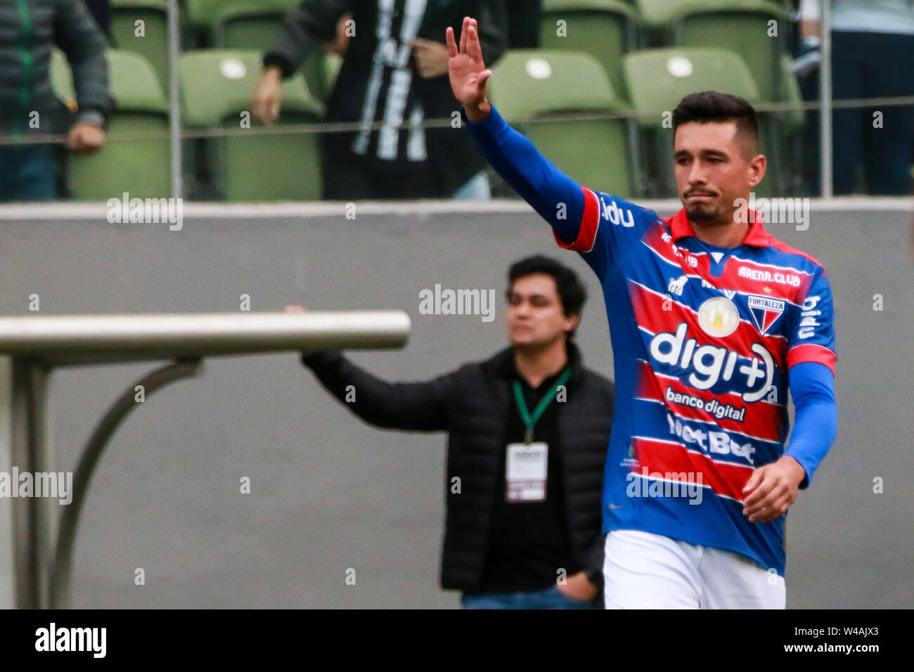 Belo Horizonte, Brazil. 21st July, 2019. MG vs Fortaleza, a matclid for the the 2019 Brazilian Championship, held at Arena Independência, Belo Horizonte, MG. Credit: Dudu Macedo/FotoArena/Alamy Live News - Stock Image