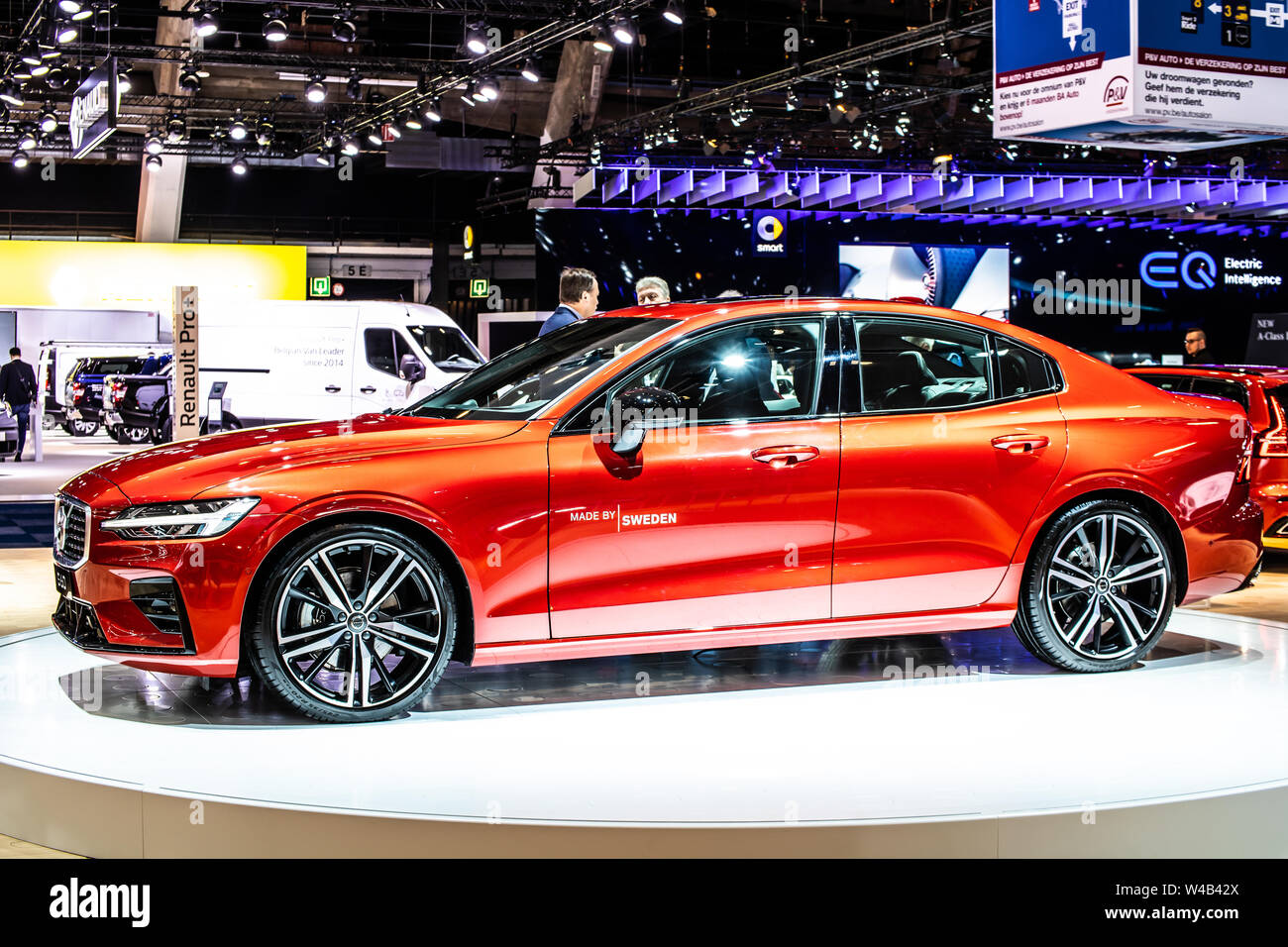 Brussels Belgium Jan 2019 Metallic Red Volvo S60 At Brussels Motor Show Executive Sedan Manufactured By Swedish Automaker Volvo Cars Stock Photo Alamy