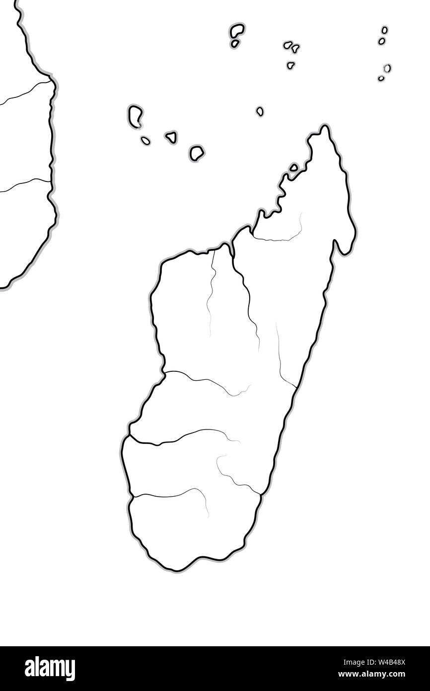 Tanzania Africa World Map.World Map Of Madagascar And Africa Coastline Madagascar