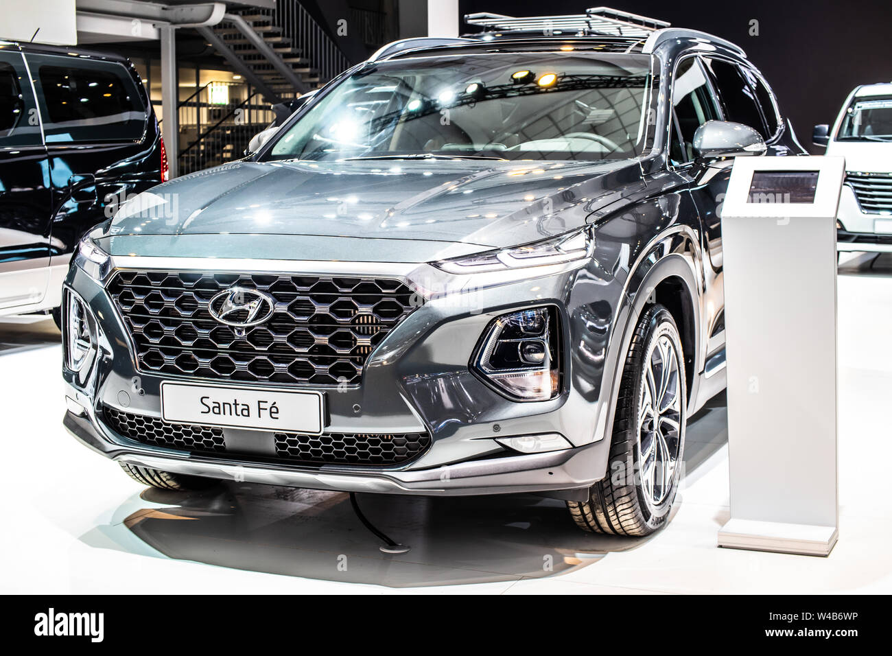 Brussels Belgium Jan 2019 Hyundai Santa Fe 4wd At Brussels Motor Show Fourth Generation Tm Suv Produced By Hyundai Motor Company Stock Photo Alamy