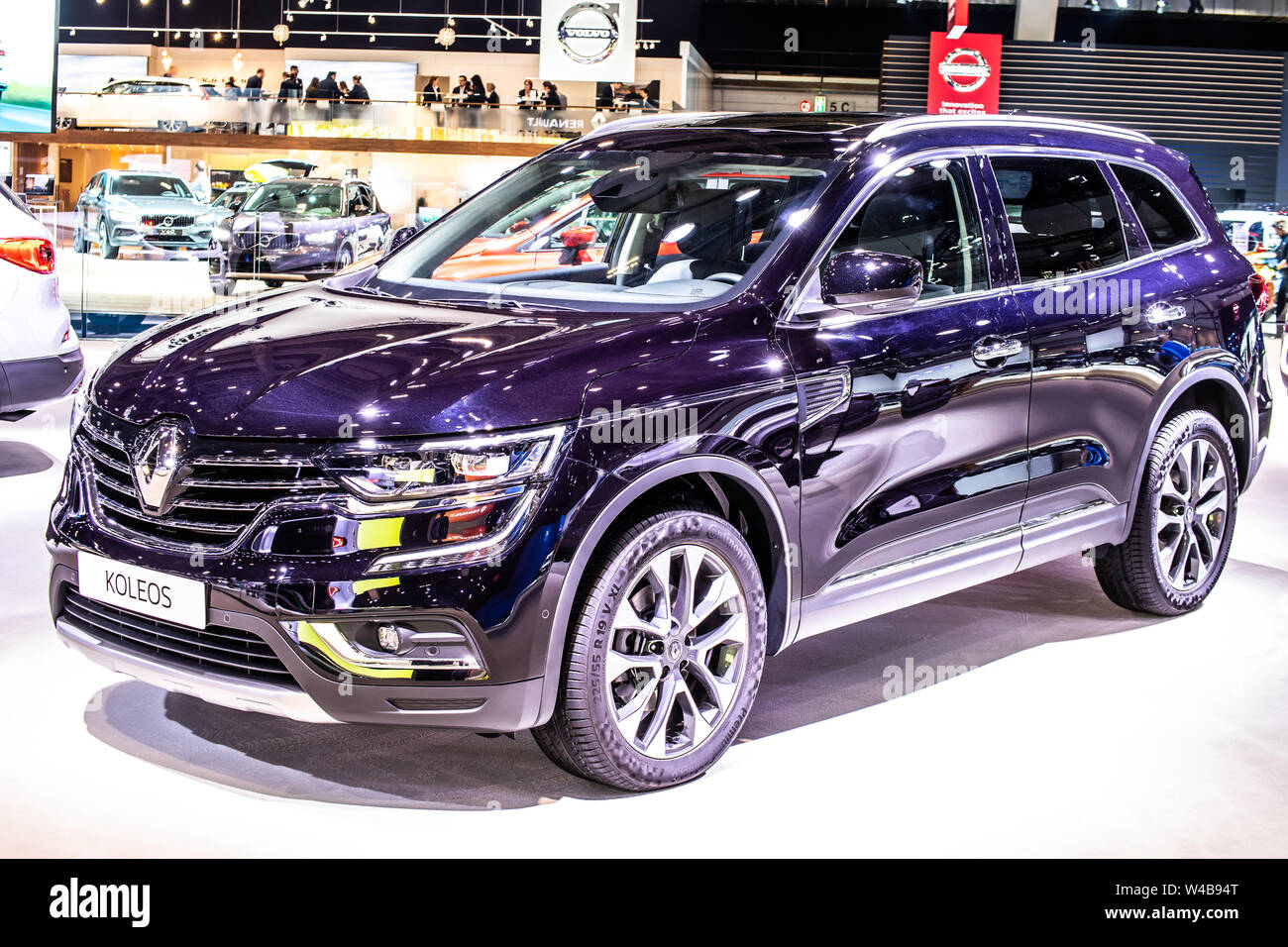 Brussels Belgium Jan 2019 Renault Koleos At Brussels Motor Show Second Generation Cmf Cd Platform Mid Size Suv Produced By Renault Stock Photo Alamy