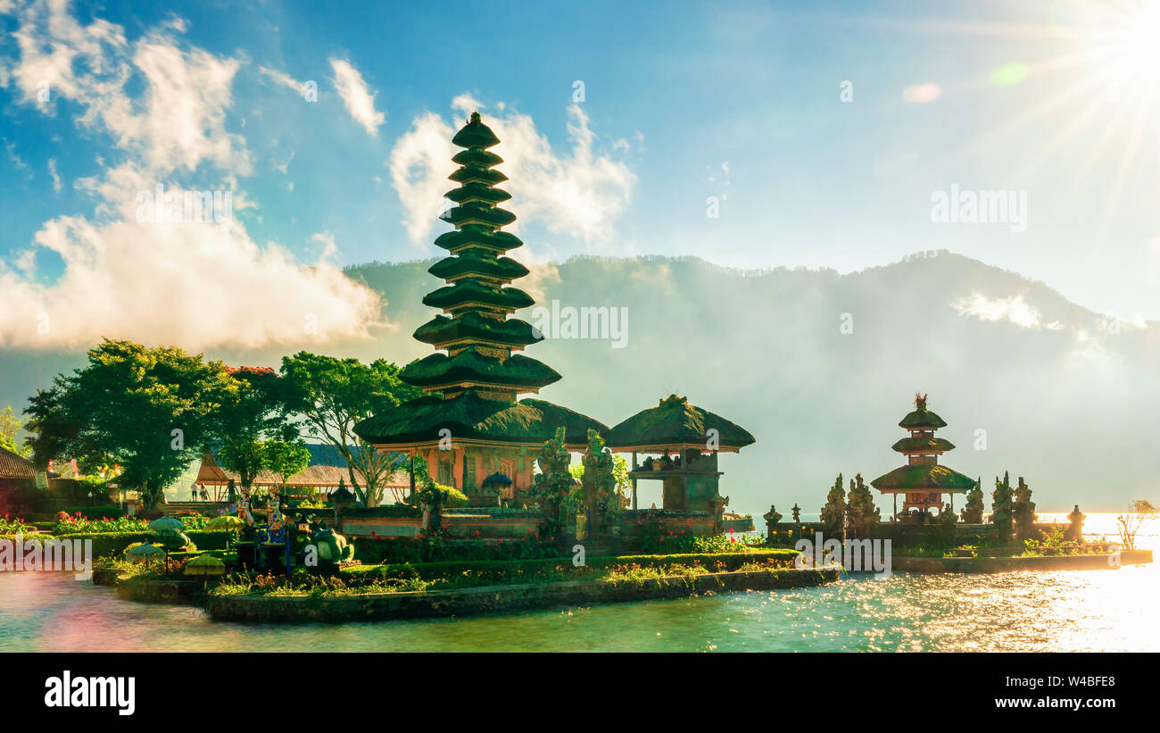 Pura Ulun Danu Bratan Temple In Bali Island Hindu Temple In