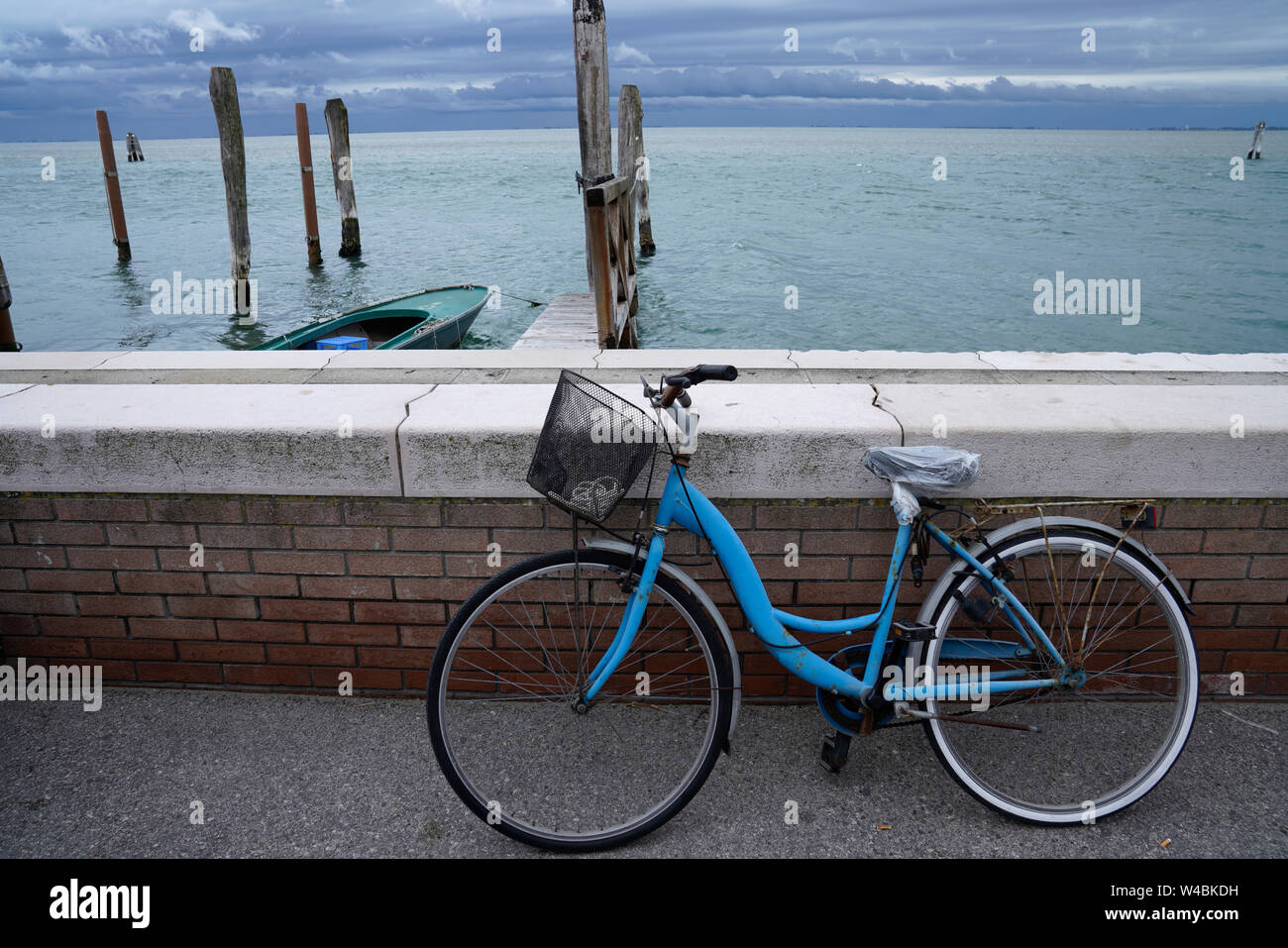 Still life by bike at the sea Stock Photo
