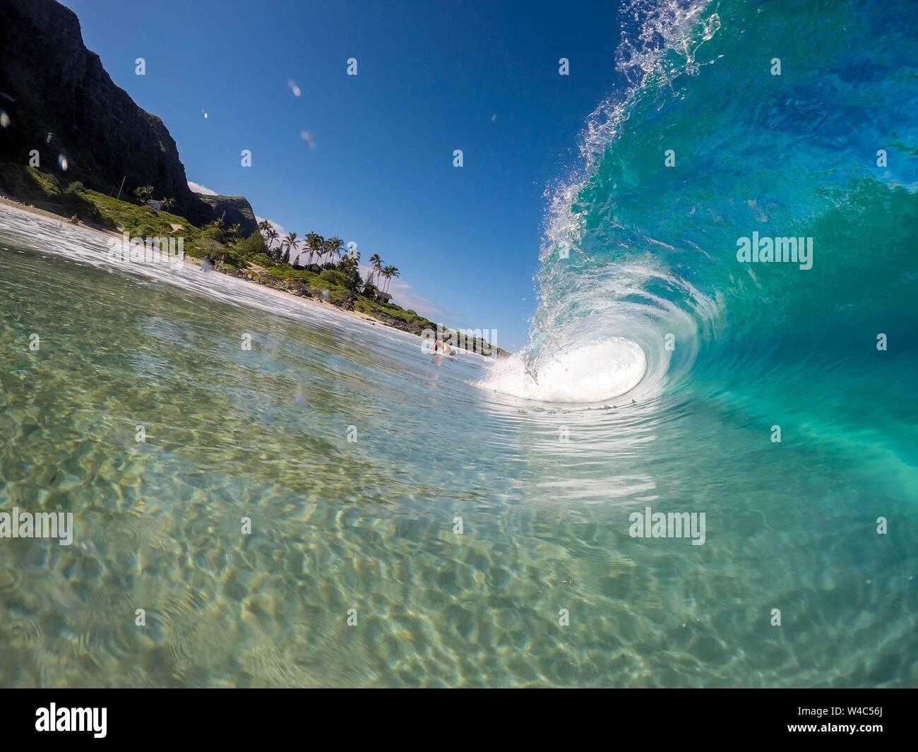 A Beautiful Closeup Shot Of Amazing Strong Ocean Waves In