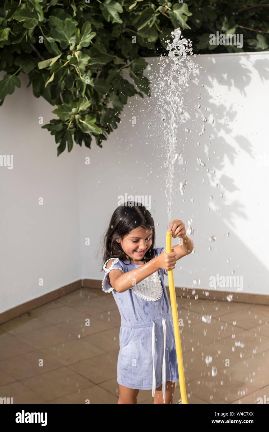 six years old girl Stock Photo