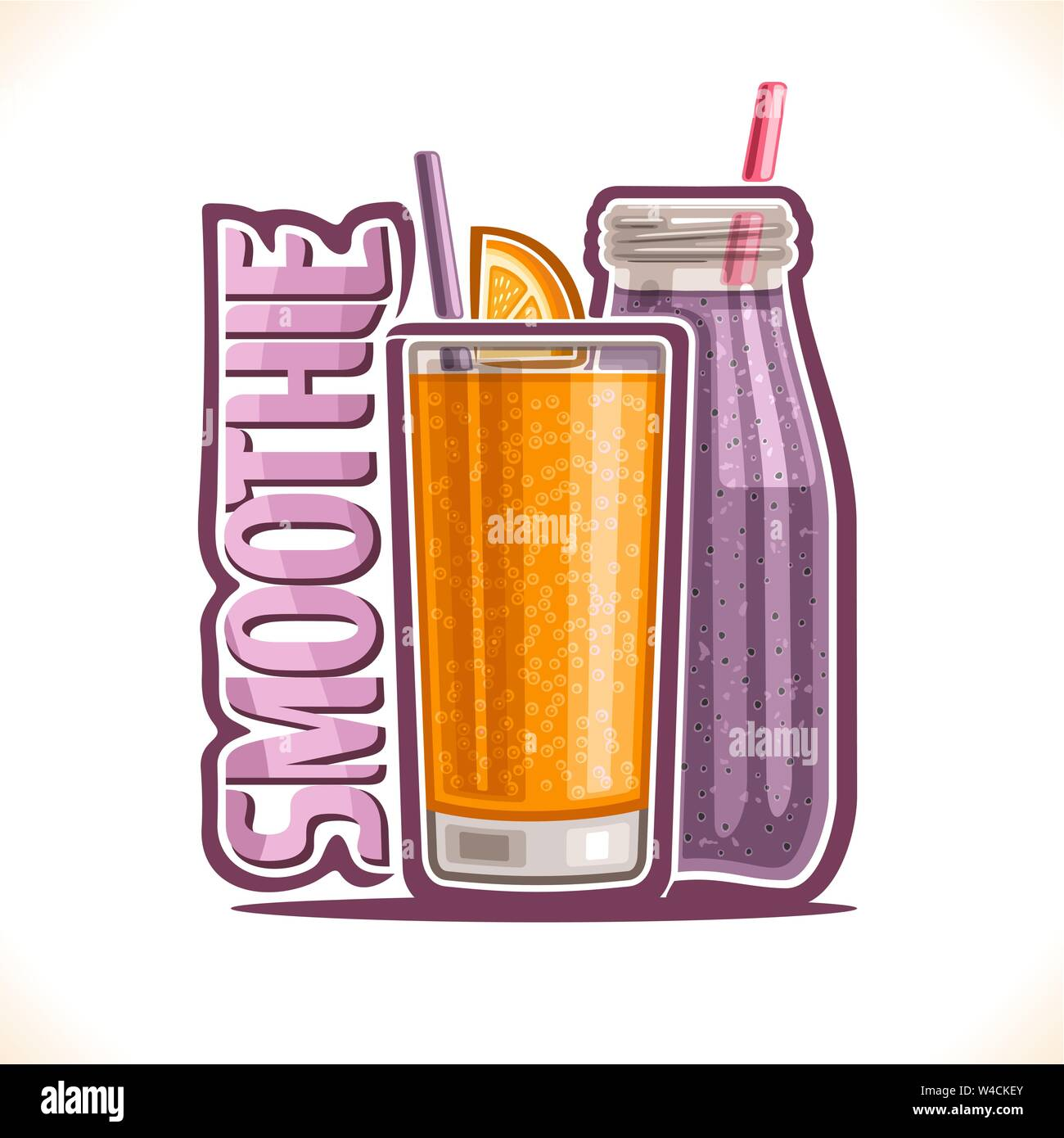 Vector illustration of fruit Smoothie Stock Vector