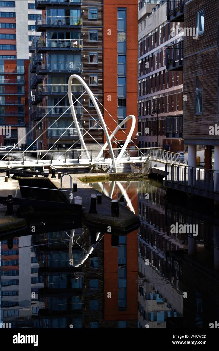 Birmingham canal reflections Stock Photo