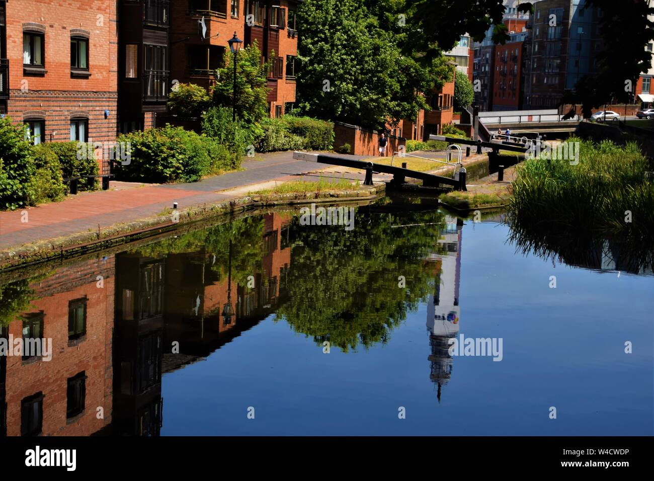 Birmingham canal reflections Stock Photo