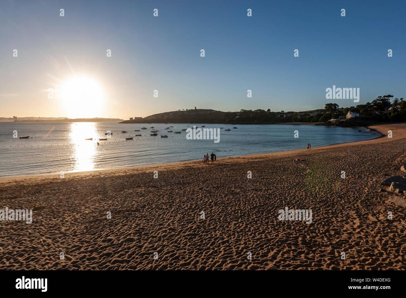 Playa de Mera, Oleiros, A Coruña Province, Galicia, Spain Stock Photo