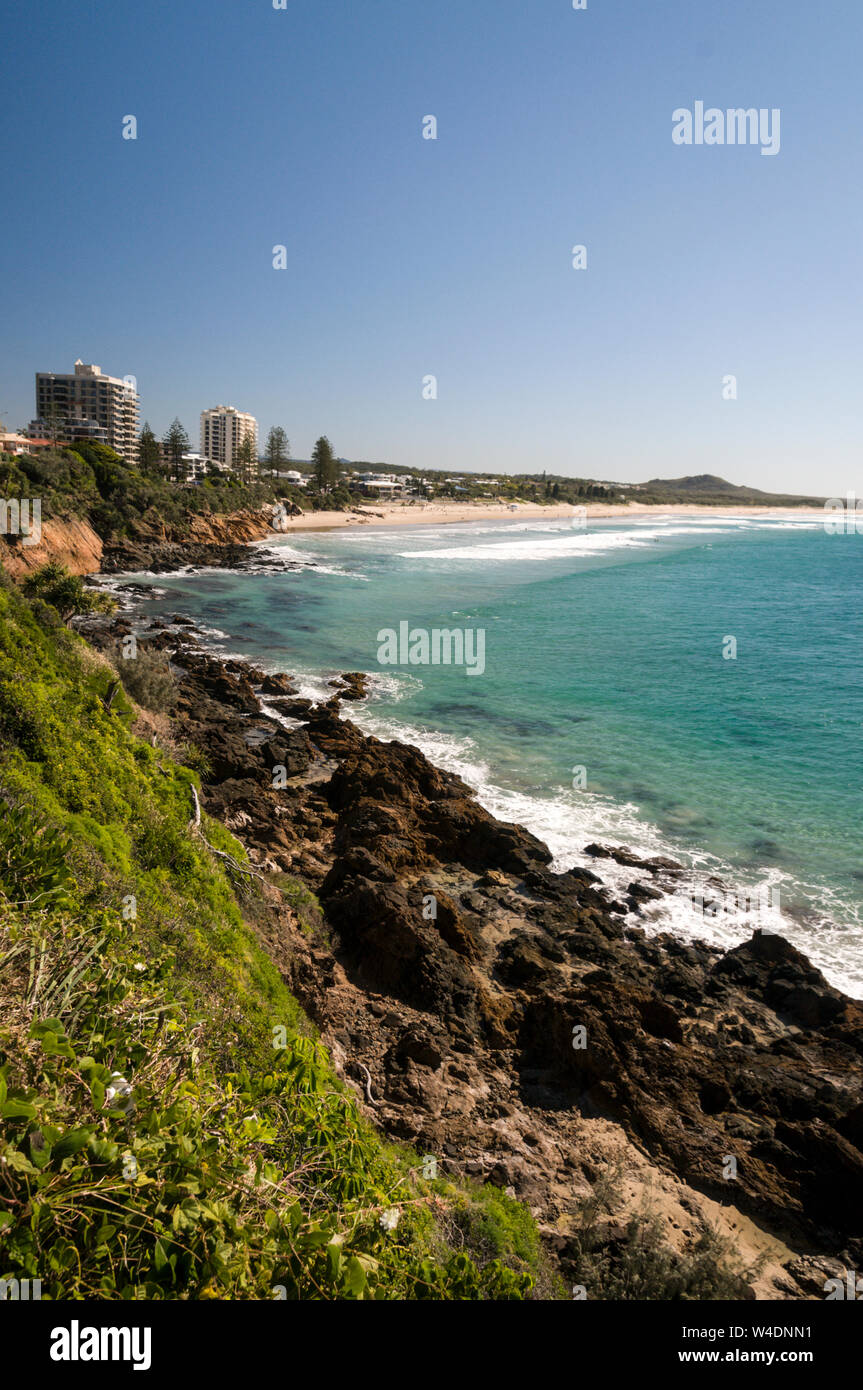 Coolum Beach A Holiday Resort Facing The Pacific Ocean On