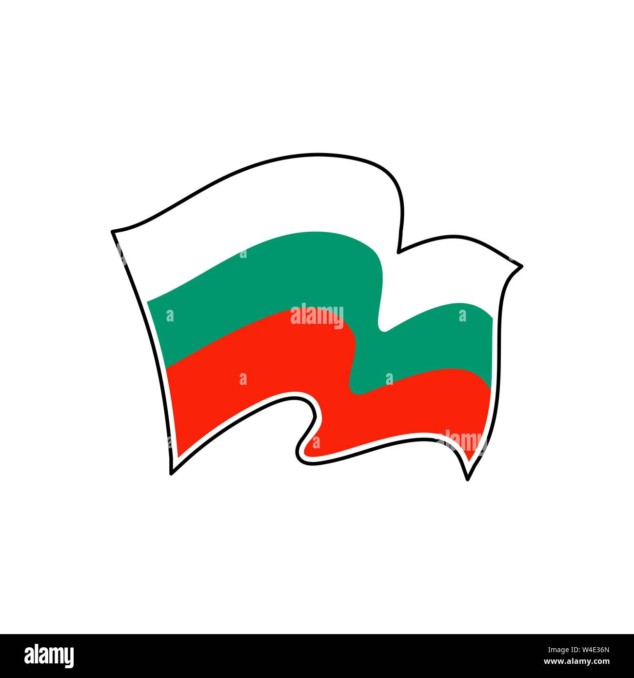 Vector flag of  Bulgaria. Bulgaria national flag. Vector illustration. Sofia Stock Vector