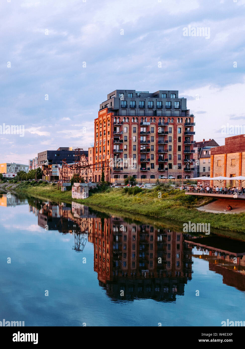 Jungbusch, Mannheim/Germany. Once a harbour and working class district, Jungbusch has become popular as a student and creative place, with lofts and t Stock Photo