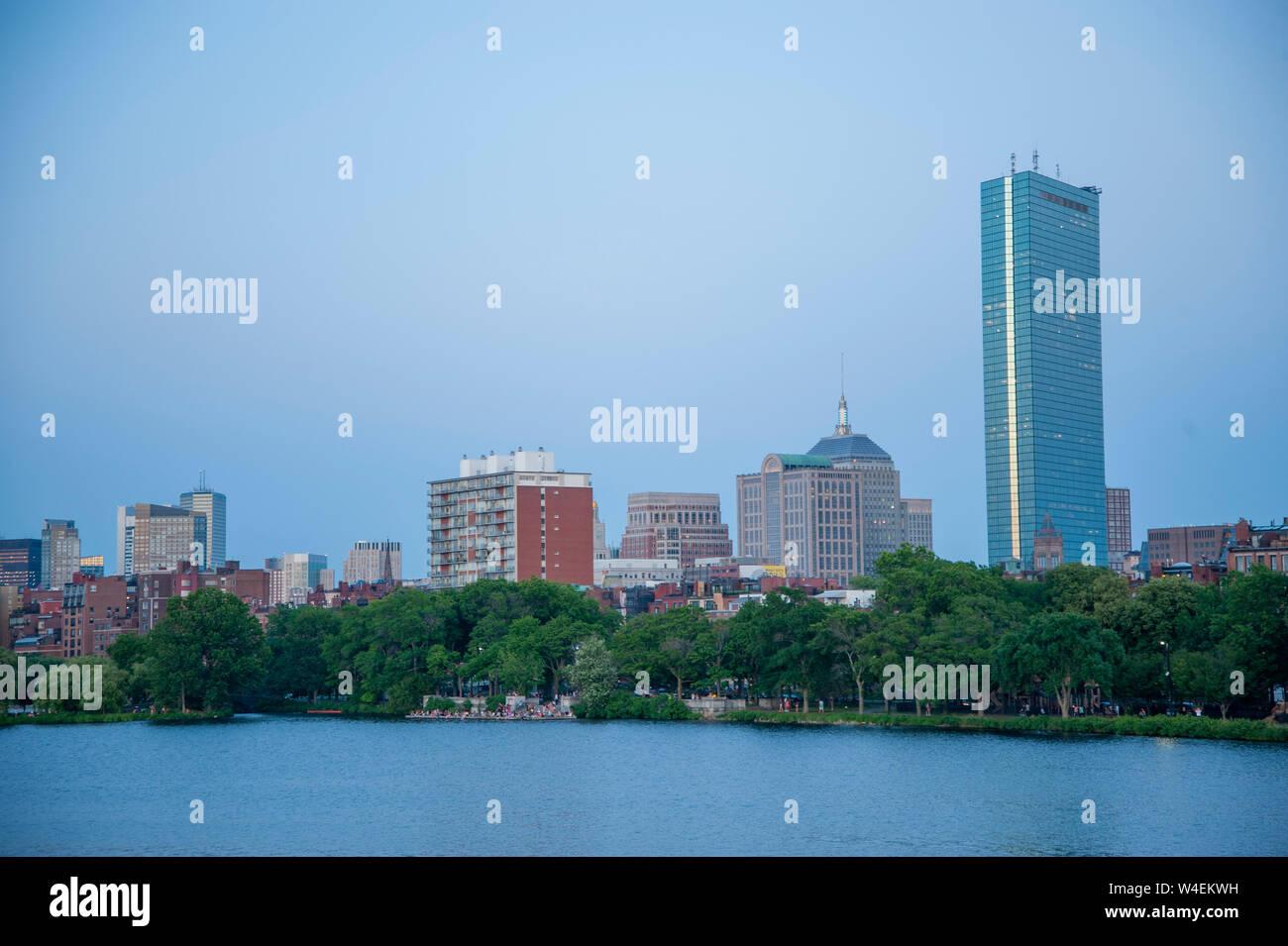 Back Bay Boston skyline Stock Photo