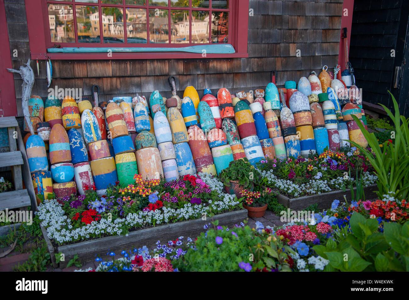 Buoy design  in Rockport Massachusetts USA Stock Photo