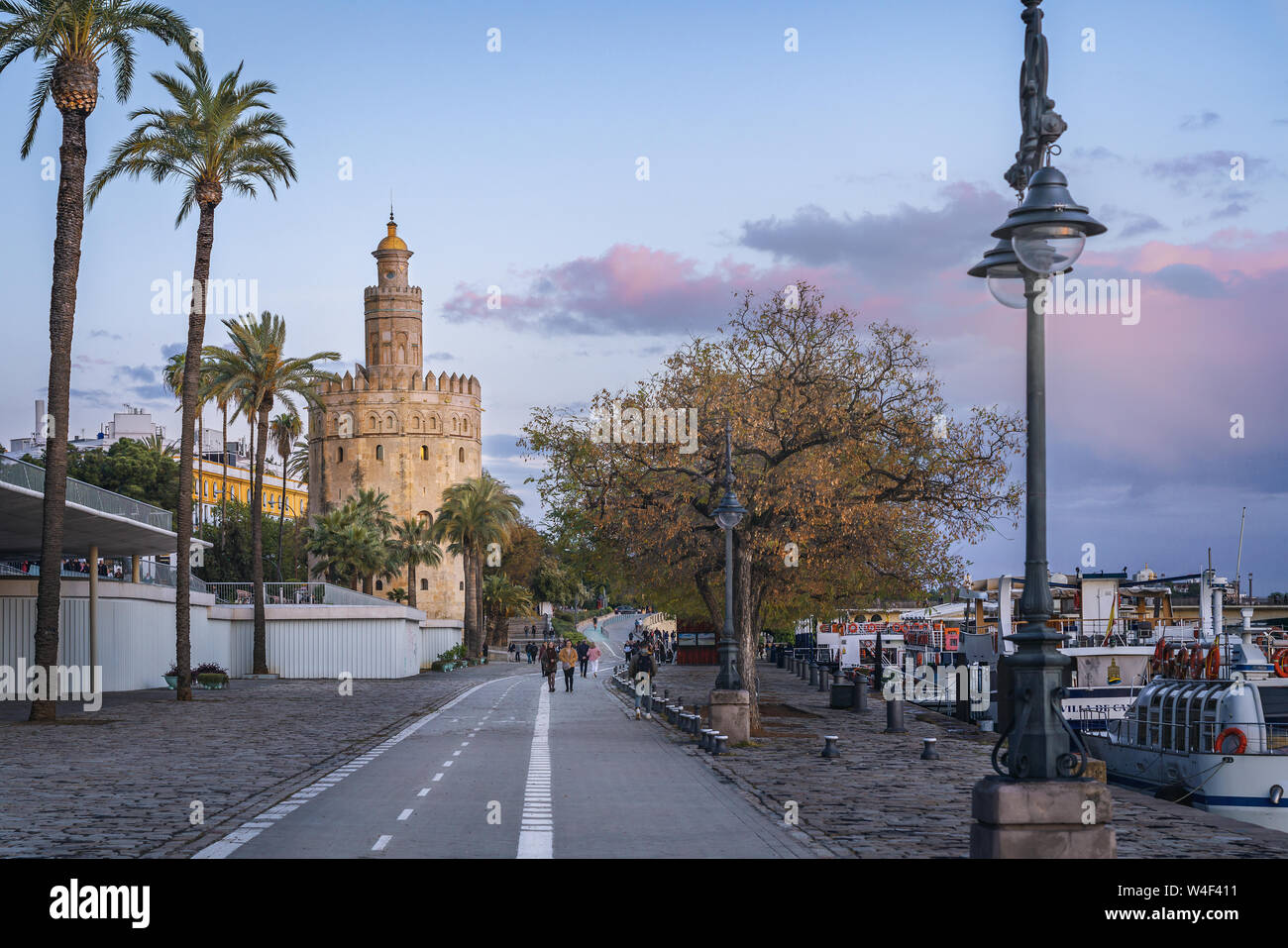 Torre del Oro tower - Seville, Andalusia, Spain Stock Photo
