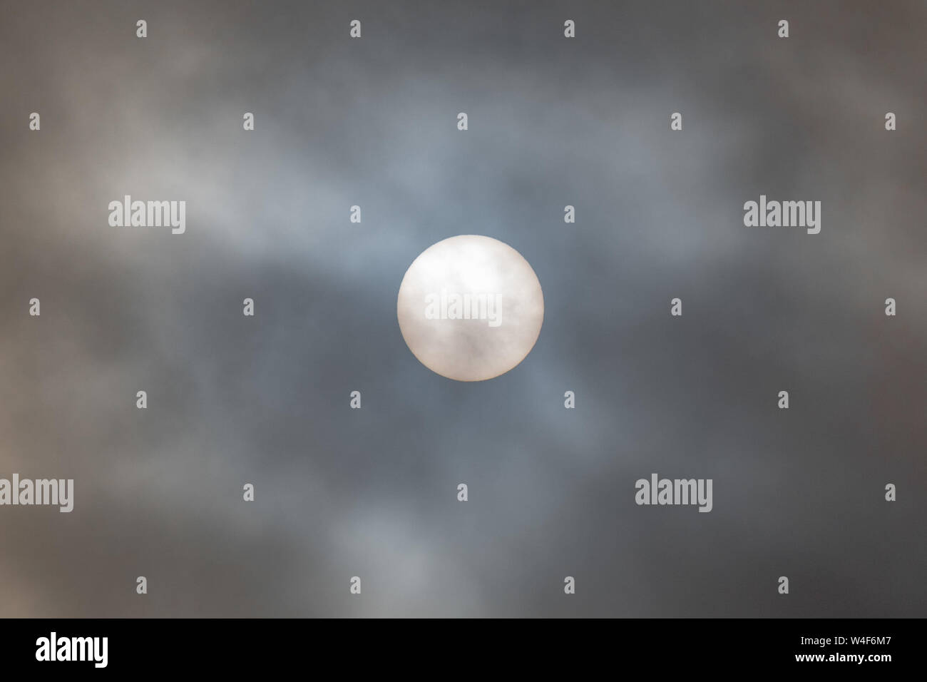 Newlyn, Cornwall, UK. 23rd July 2019. UK Weather. Early morning mist and clouds are forecast to lift this morning, however there is a risk of thundery showers later on in Cornwall.  Credit Simon Maycock / Alamy Live News. Stock Photo