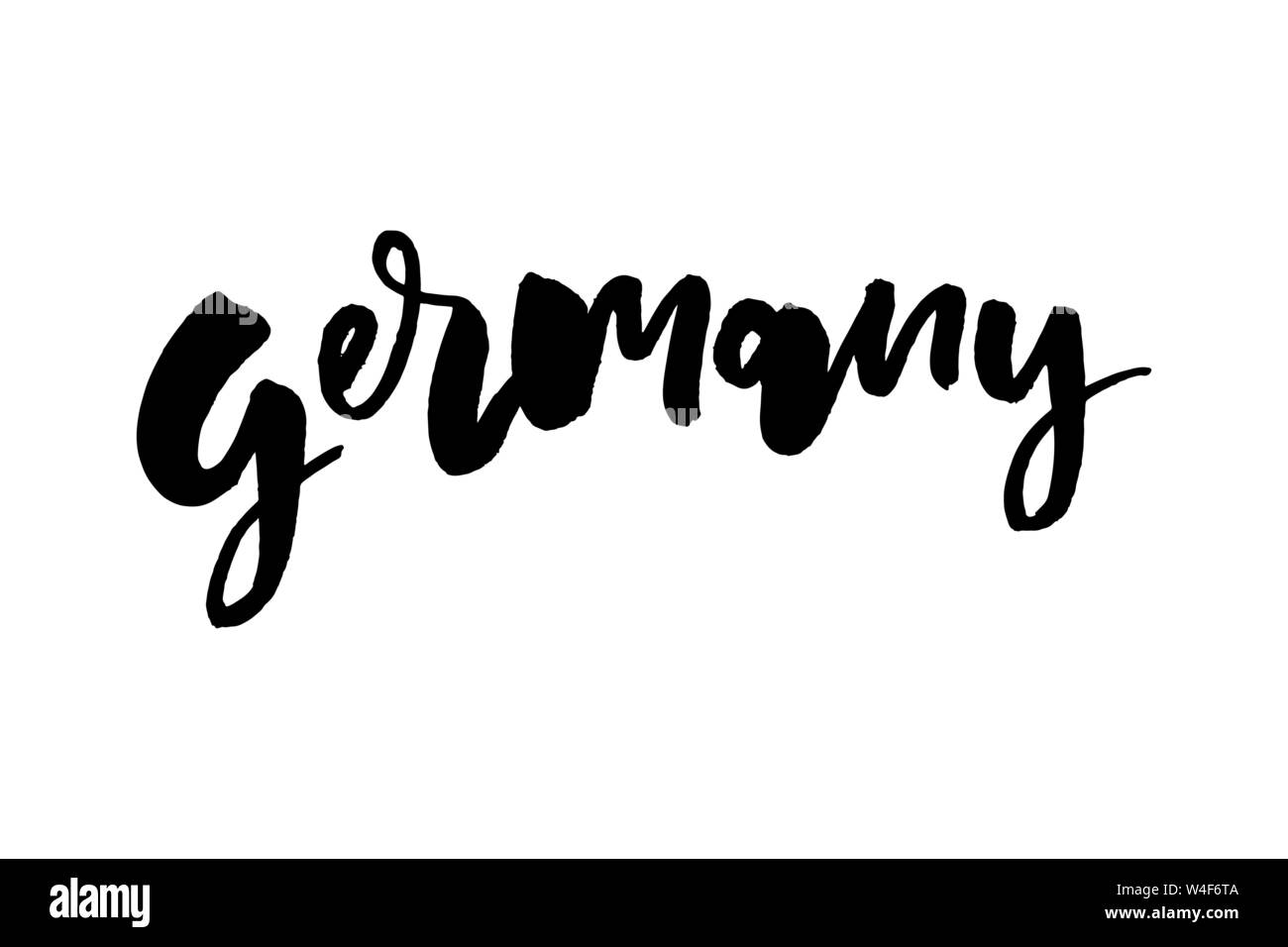 Script Text Word Art Lettering Design Vector Of Country Name