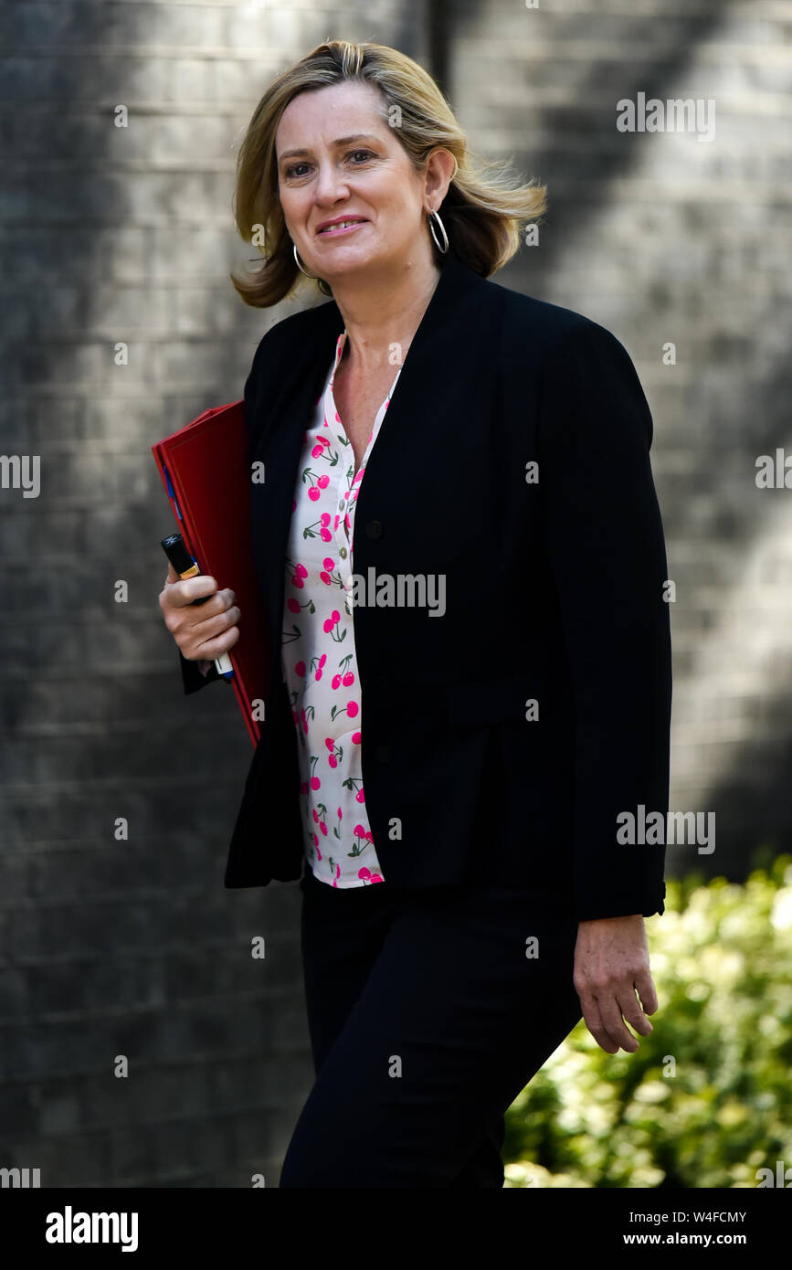 Downing Street, London, UK. 23rd July 2019. Amber Rudd. Ministers arrive for the Cabinet meeting. Stock Photo