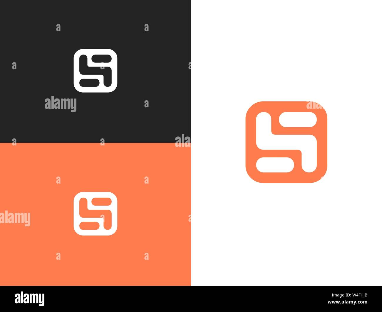 Stylized number three logo, vector sign number 5 Stock Vector