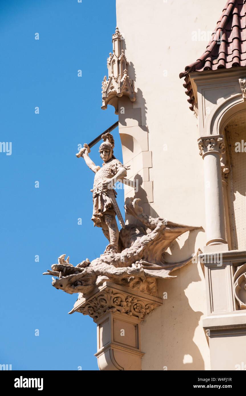Around Prague - Building Detail Stock Photo