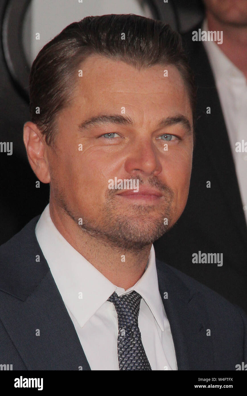 """Los Angeles, USA. 22nd July 2019. Leonardo DiCaprio 07/22/2019 The Los Angeles Premiere of """"Once Upon A Time In Hollywood"""" held at the TCL Chinese Theatre in Los Angeles, CA Photo by Izumi Hasegawa/HollywoodNewsWire.co Credit: Hollywood News Wire Inc./Alamy Live News Stock Photo"""