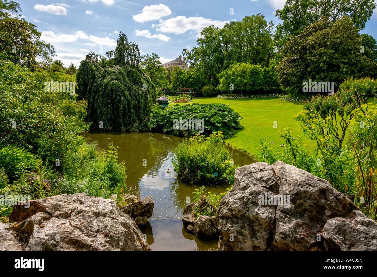 Botanic garden of Nantes. Loire-Atlantique. Pays  de la Loire. France Stock Photo