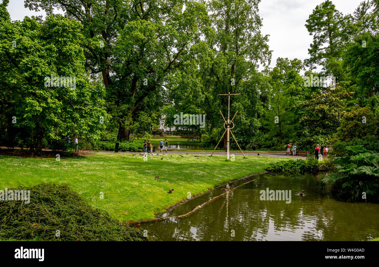 Botanic garden of Nantes. Loire-Atlantique. Pays  de la Loire. France Stock Photo