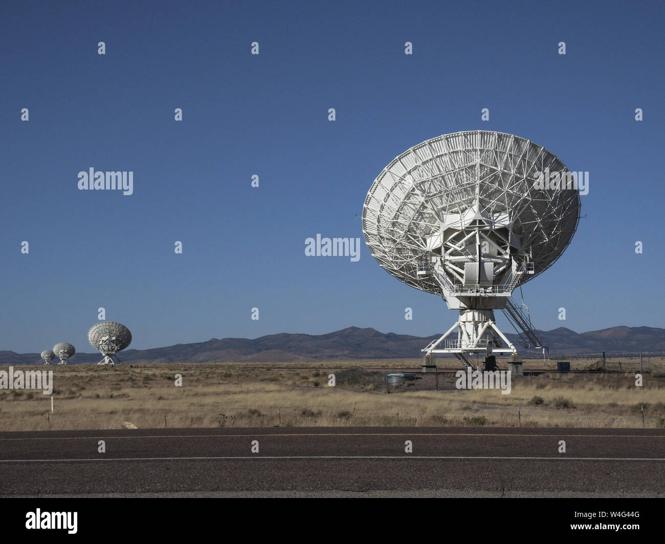 Radio Astronomy Observatory, The Very Large Array Socorro, NM, USA. Stock Photo