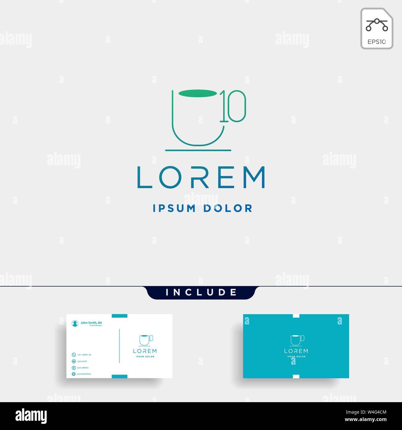 Internet Cafe Logo Design Vector Binary Technology Symbol Icon Stock Vector Image Art Alamy