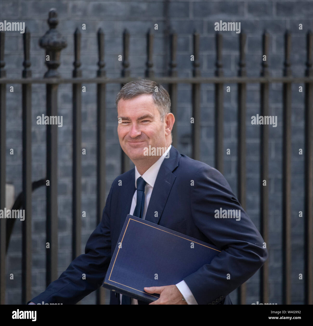 Downing Street, London, UK. 23rd July 2019. David Gauke, Secretary of State for Justice, arrive in Downing Street for final cabinet meeting before Boris Johnson is announced as new PM. Credit: Malcolm Park/Alamy Live News. Stock Photo