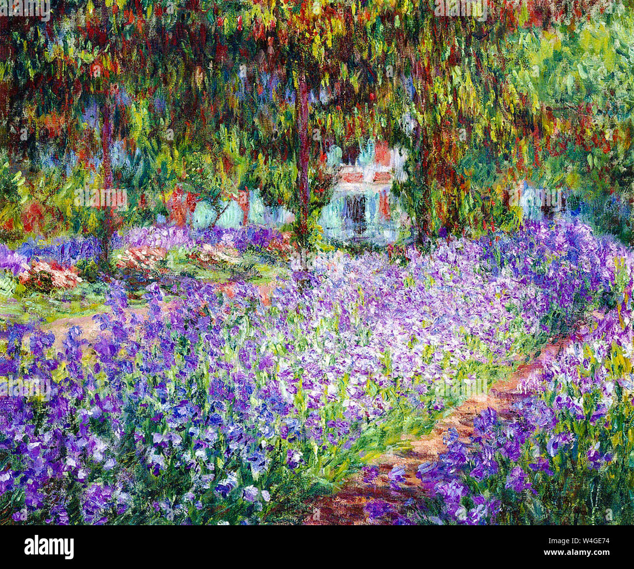Claude Monet The Artist S Garden At Giverny Painting 1900 Stock