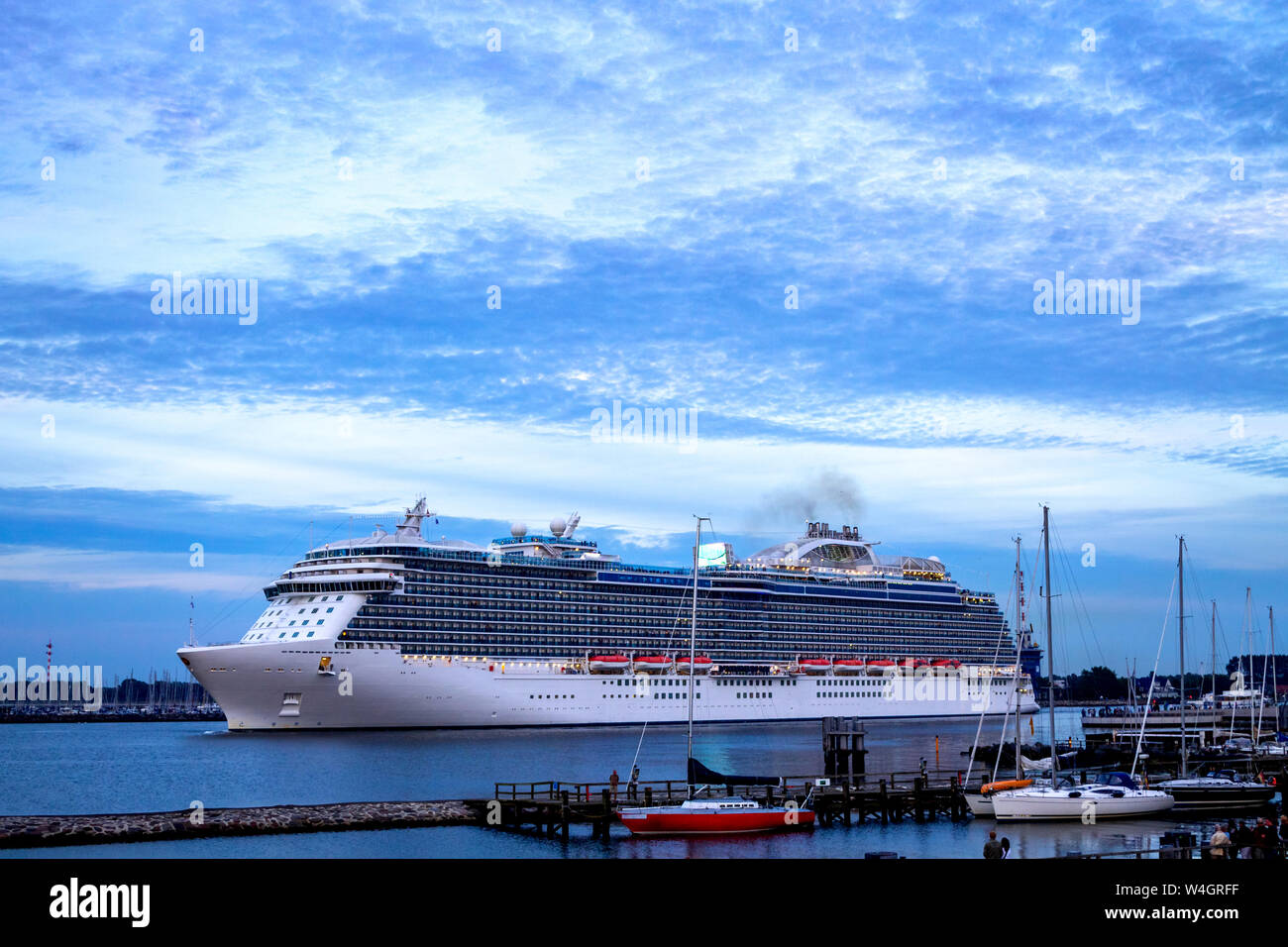 Cruise liner, Warnemuende, Rostock, Germany Stock Photo