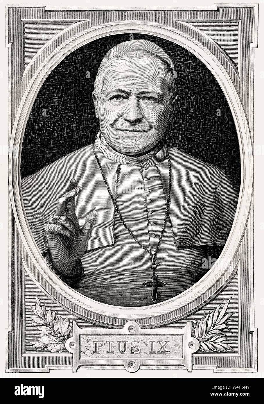 Pope Pius IX, 13 May 1792 – 7 February 1878, Pope from 16 June 1846 to his death Stock Photo