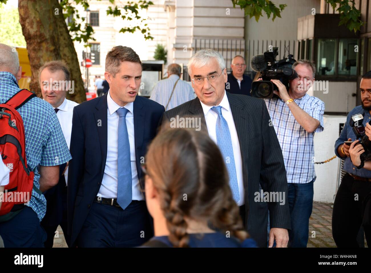 The Tory Leadership result at the QEII 23rd July 2019 & the attendees included the powerful and influential in the Tory Party & huge press coverage. Stock Photo