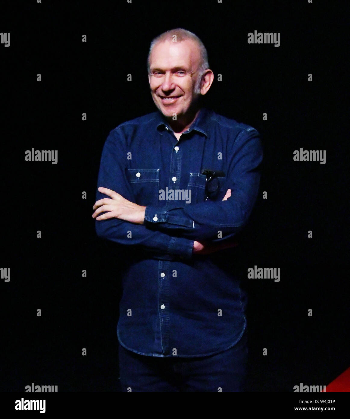 London Uk 23rd July 2019 Jean Paul Gaultier Flamboyant Fashion Designer Stages Production Somewhere Between A Revue And A Fashion Show Based On His Life Story Capturing Key Moments Including His Time