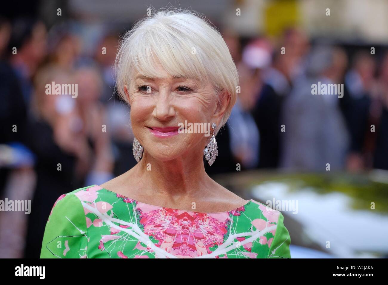 London, UK. 23rd July, 2019. Helen Mirren attends a special screening of Fast and Furious Hobbs and Shaw at the Curzon Mayfair on Tuesday, Jul. 23, 2019 . Picture by Julie Edwards. Credit: Julie Edwards/Alamy Live News Stock Photo