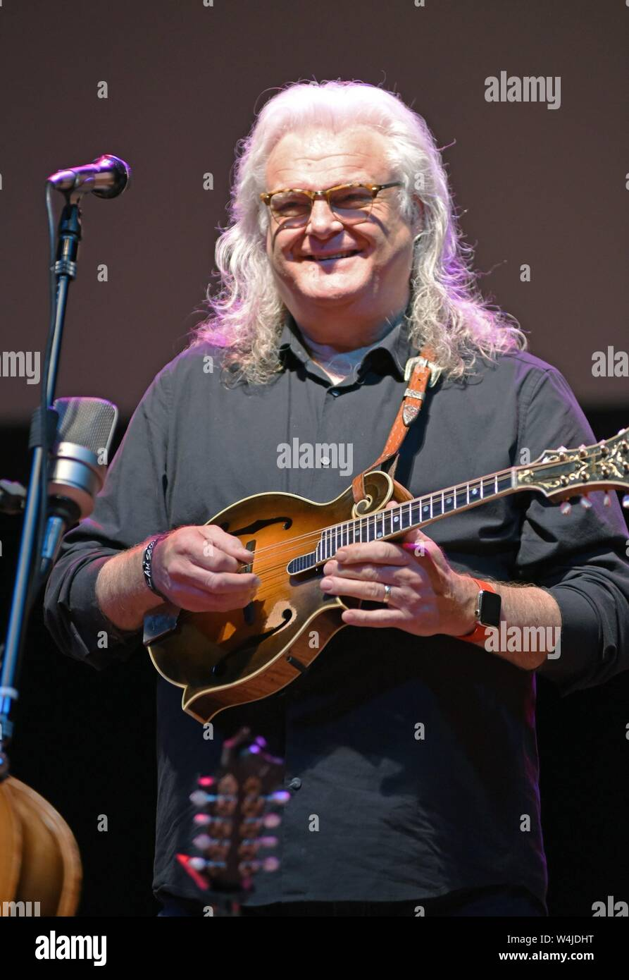 Hiawassee, GA, USA. 23rd July, 2019. Ricky Skaggs on stage for Ricky Skaggs in Concert, Georgia Mountain Fairgrounds, Hiawassee, GA July 23, 2019. Credit: Derek Storm/Everett Collection/Alamy Live News Stock Photo