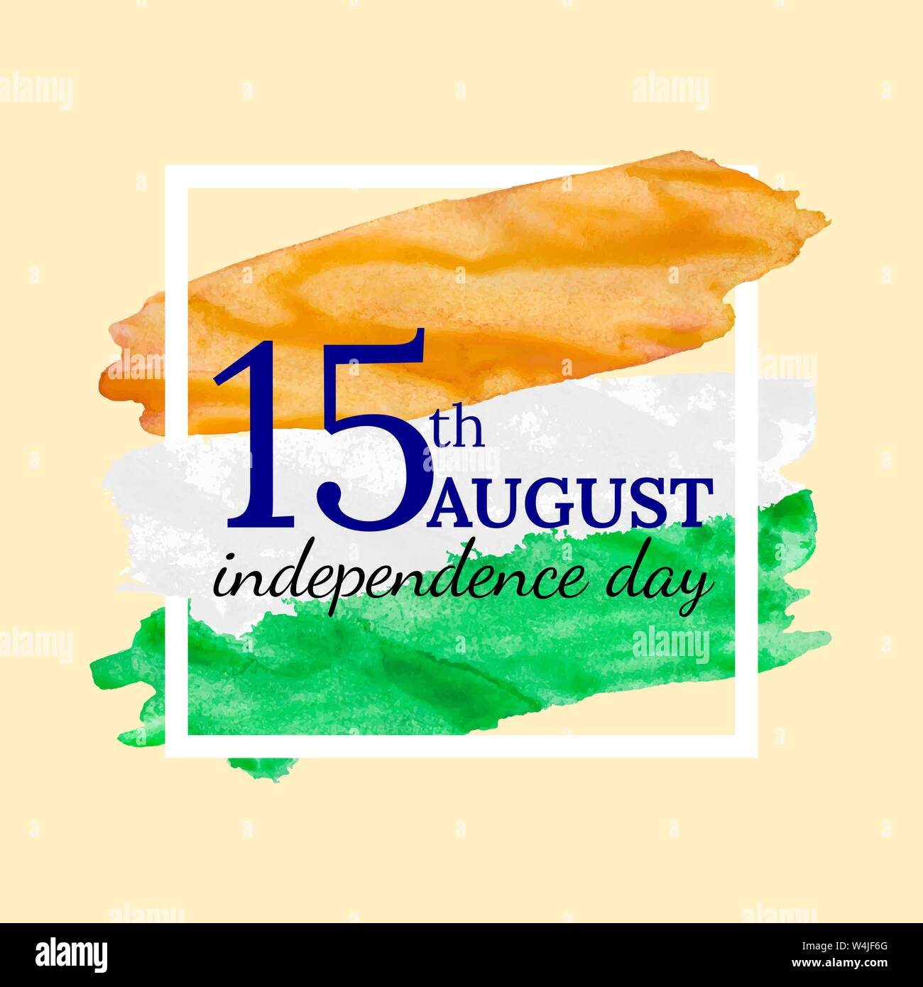 Happy Independence Day 15th August India With Colors Of