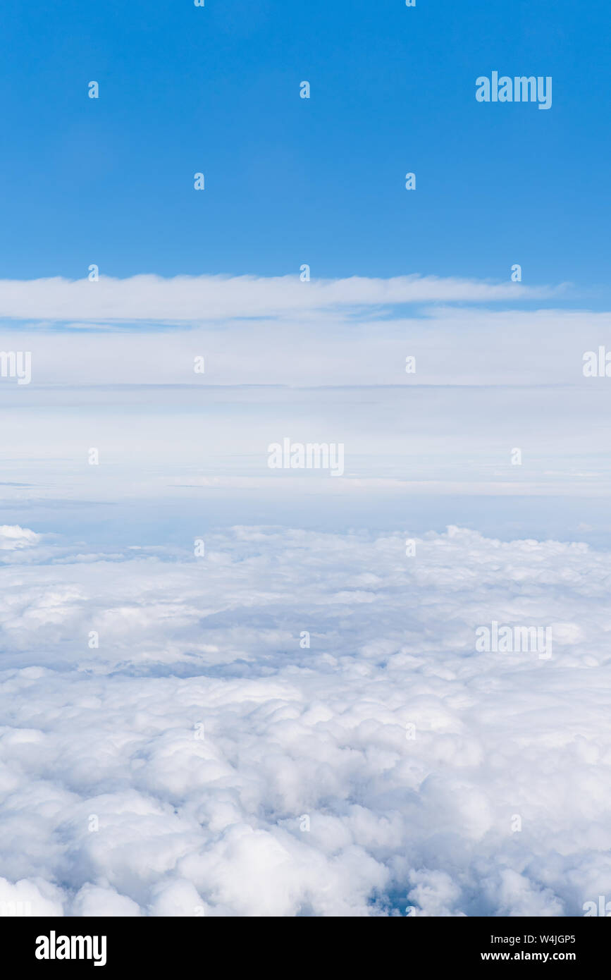 Heaven. Beautiful sky above the clouds. Background of cloudy sky. Stock Photo
