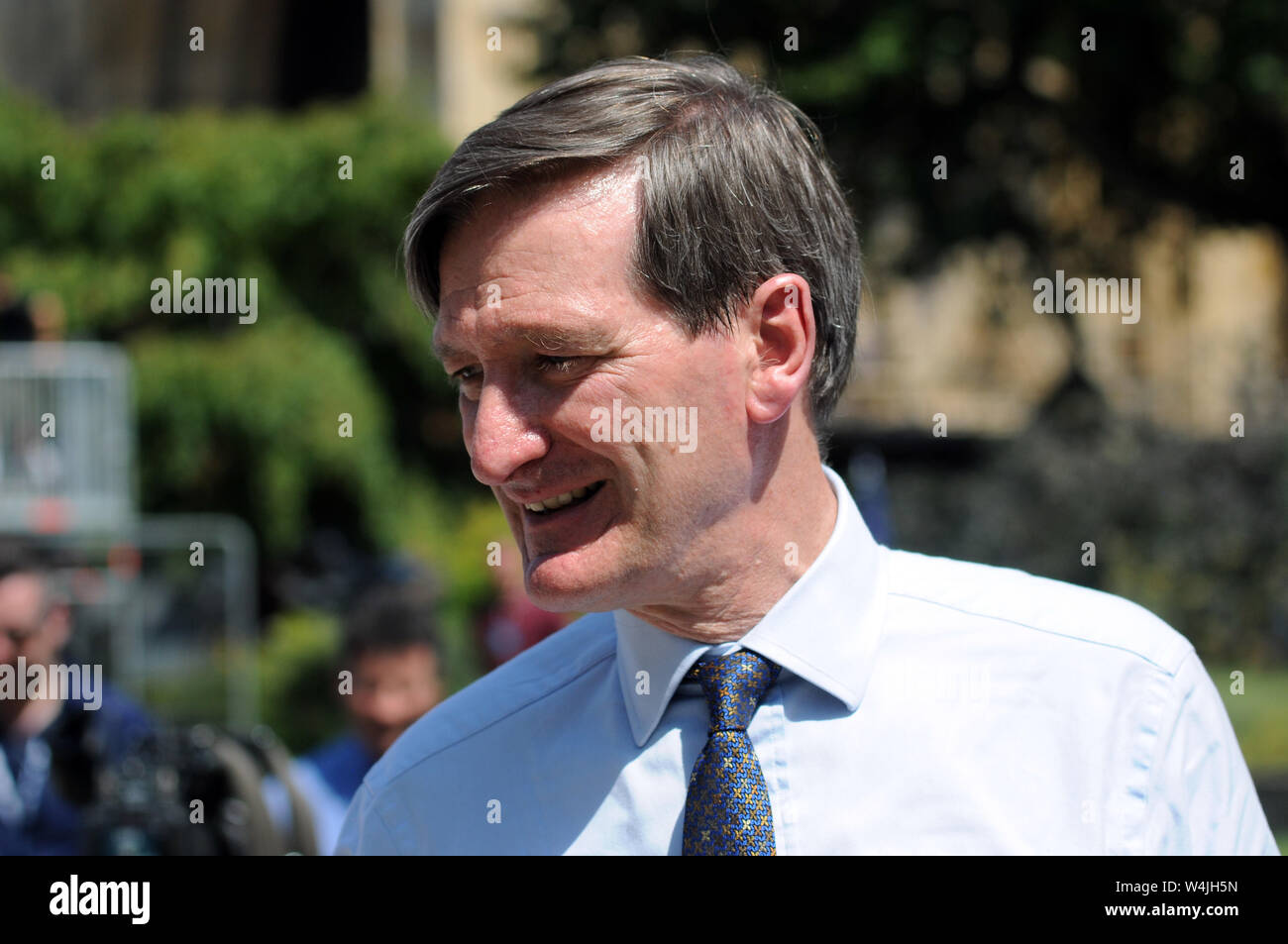London, UK, 23 July 2019 Dominic Grieve MP. Politicians attend Boris Johnson election results as leader of the Conservative Party at the Queen Elizabeth Center. Credit: JOHNNY ARMSTEAD/Alamy Live News Stock Photo
